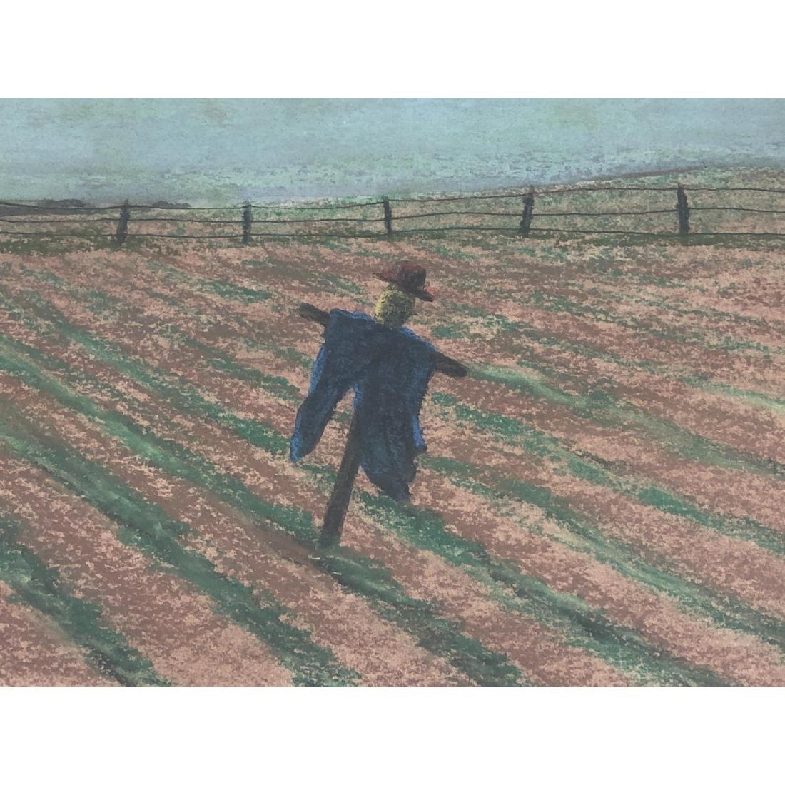 """BILL SULLIVAN Pastel on Paper 1984 """"THE SLEEPING - 4"""