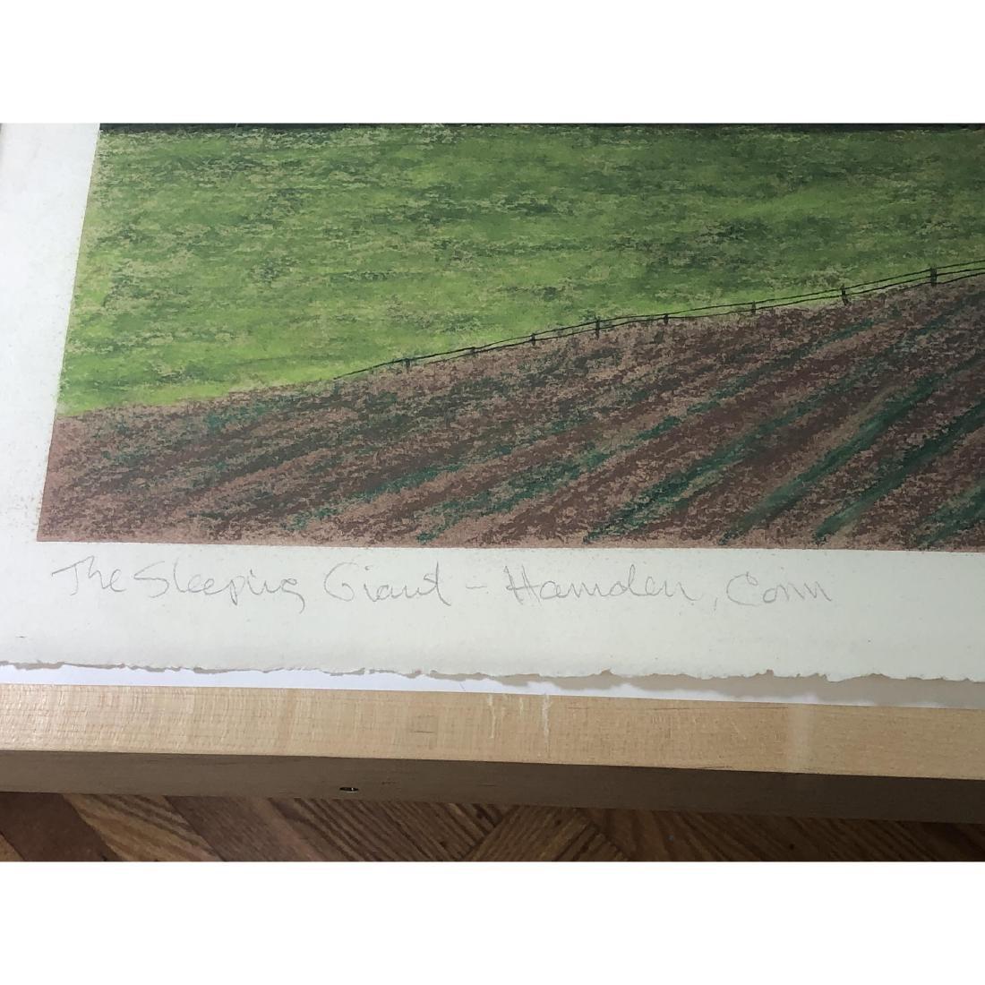 """BILL SULLIVAN Pastel on Paper 1984 """"THE SLEEPING - 6"""