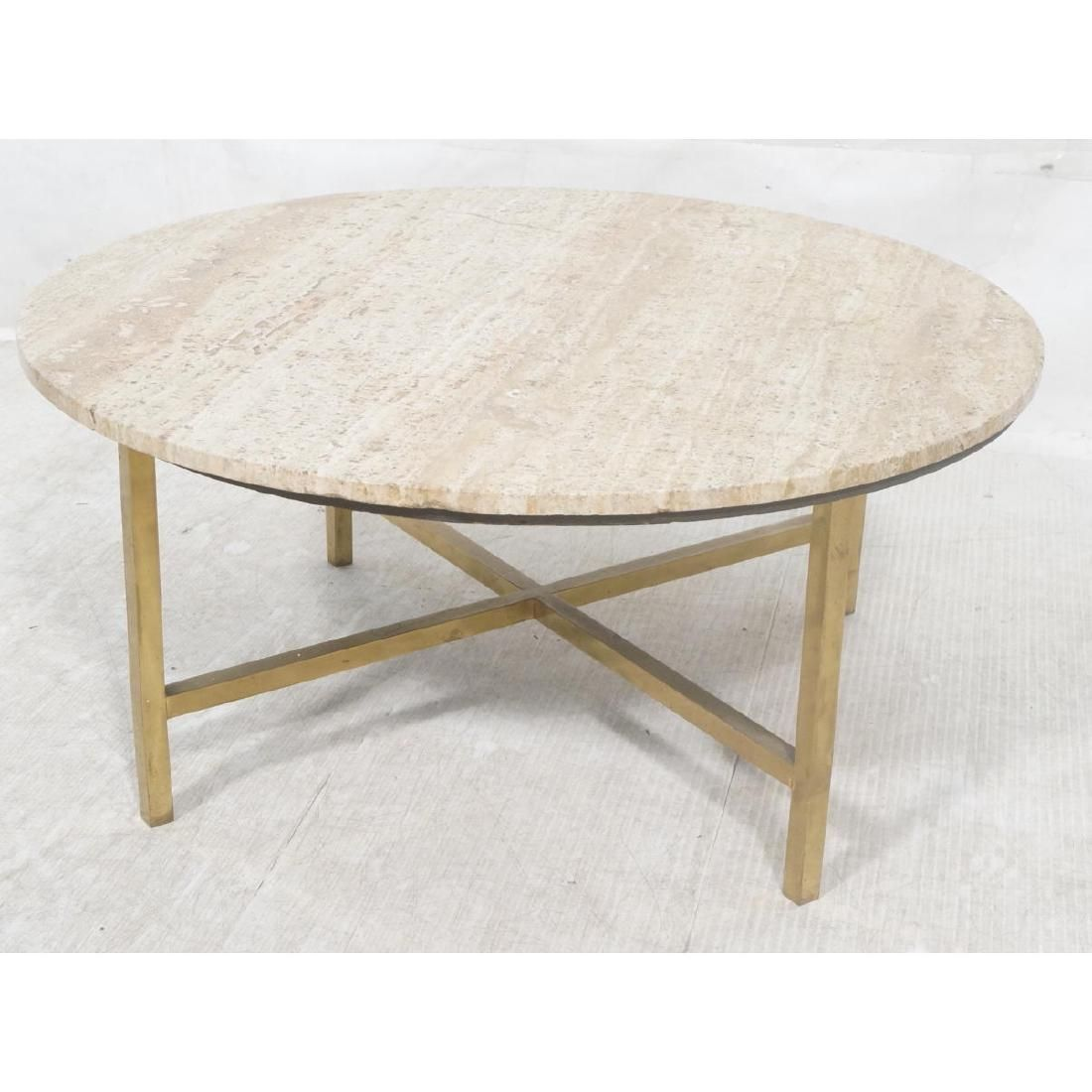 Harvey Probber Style Cocktail Table. Round Traver