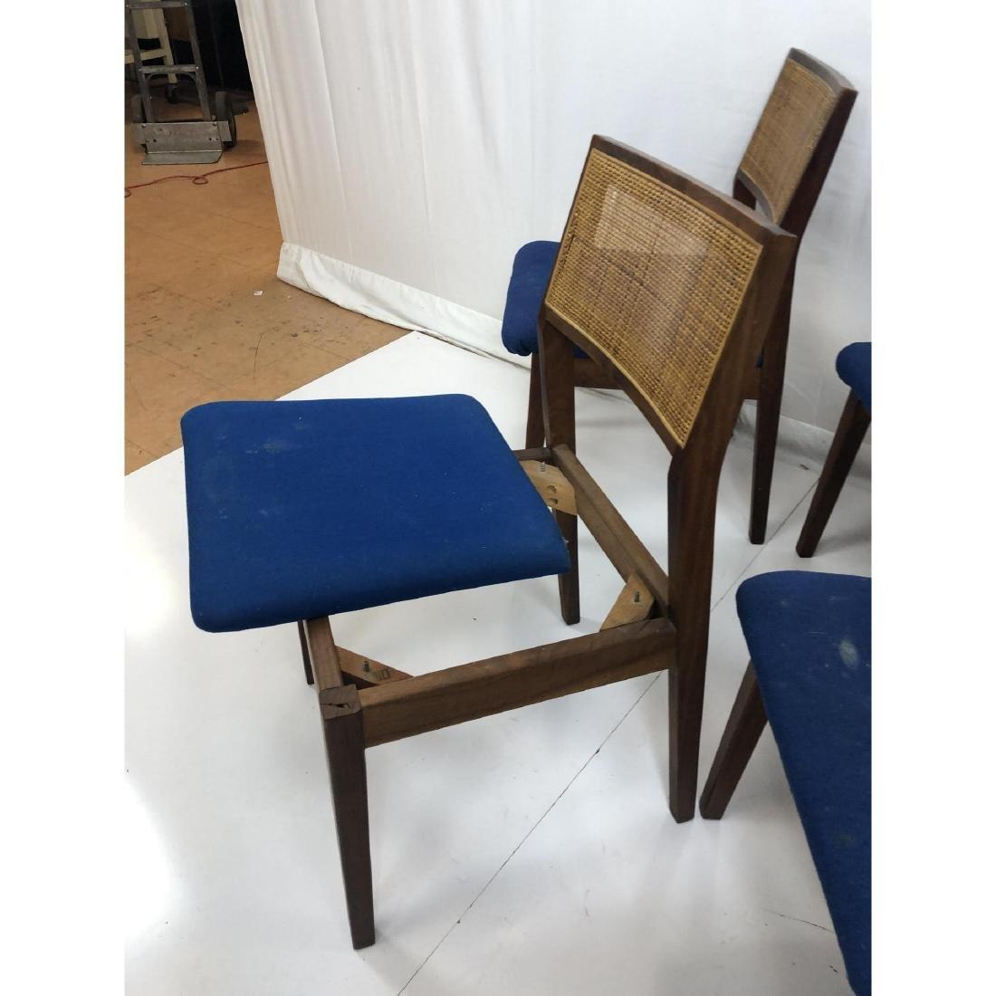 Set 11 Modernist Cane Back Walnut Dining Chairs. - 10