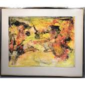 NAOMI LORNE Modernist Abstract Watercolor Paintin