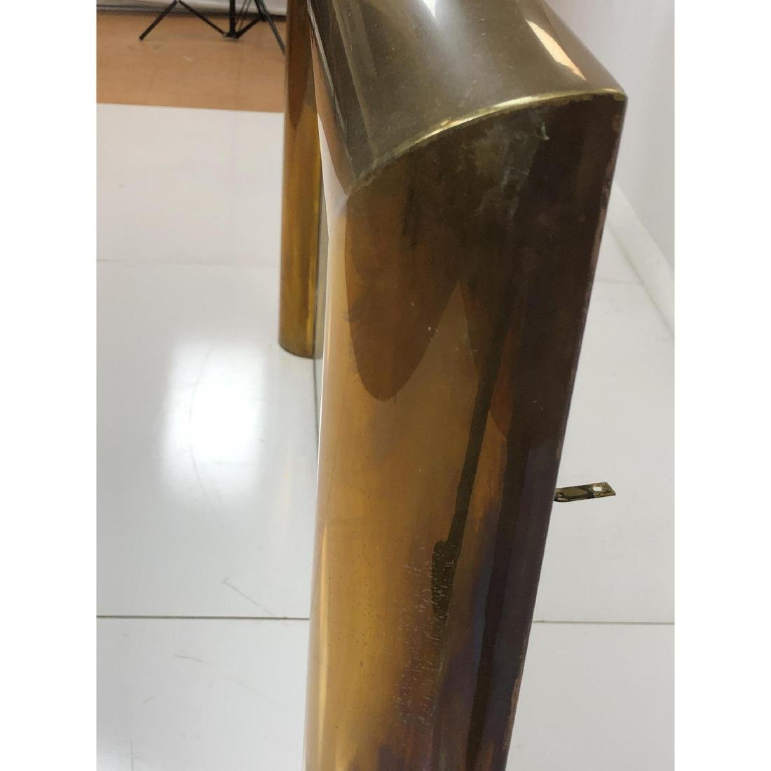 Modernist Brass Frame Oversized Fireplace Surroun - 8