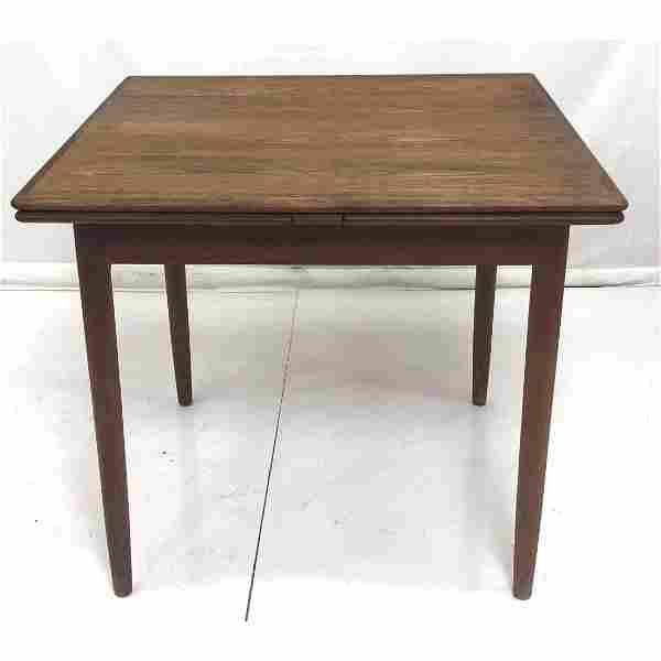 Danish Modern Teak Refractory Dining Table. Squar