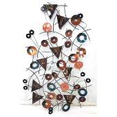 Signed Contemporary Enameled Steel Wall Sculpture