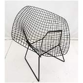 HARRY BERTOIA Diamond Chair Frame. Metal grid pat