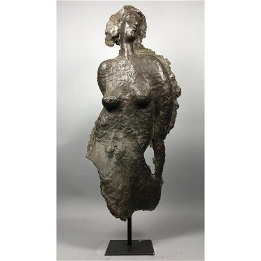 Modernist N T  Abstract Female Nude Sculpture  Ra