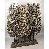 "35"" Welded Metal Grove of Trees Table Sculpture."