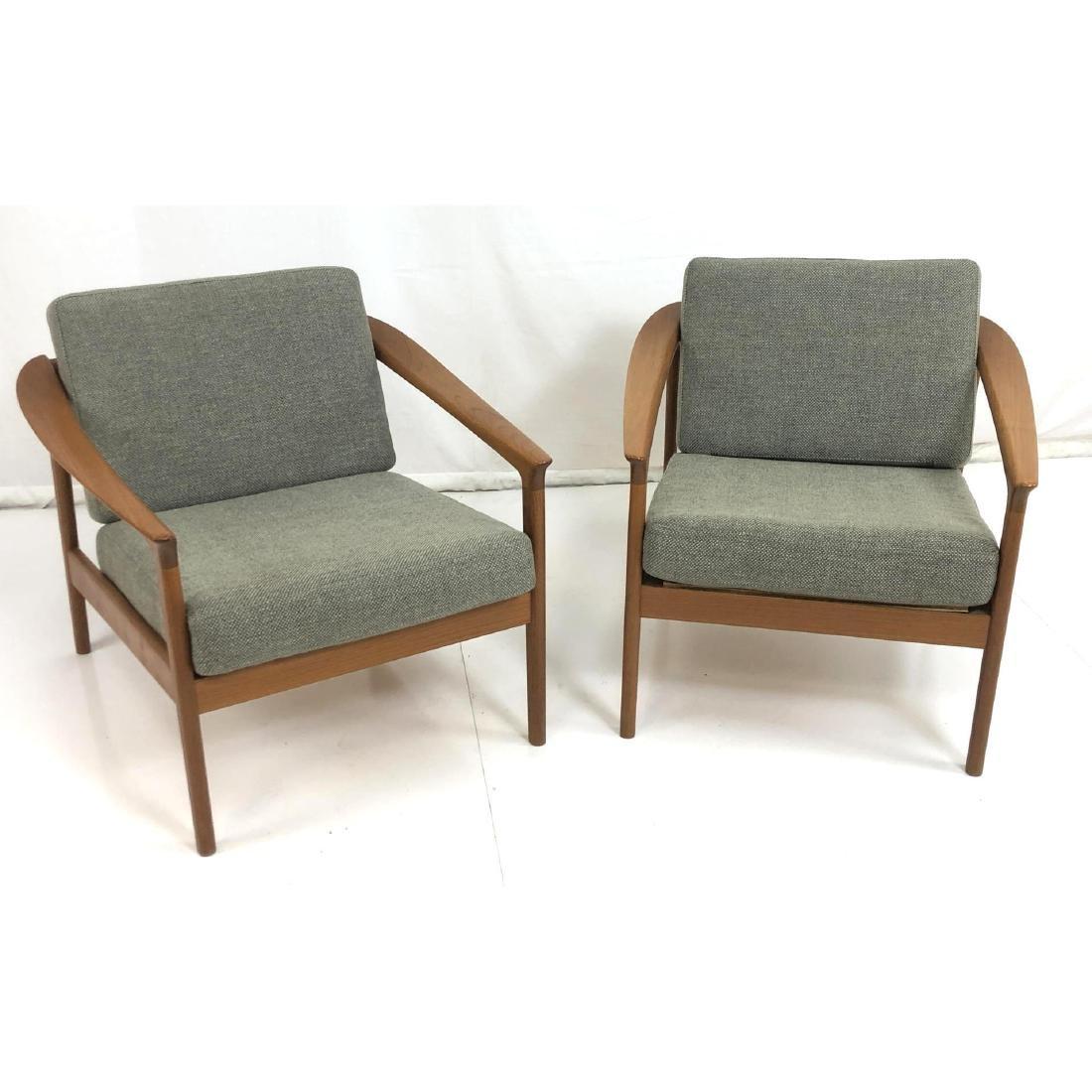 Pr FOLKE OHLSSON Danish Modern Teak Lounge Chairs