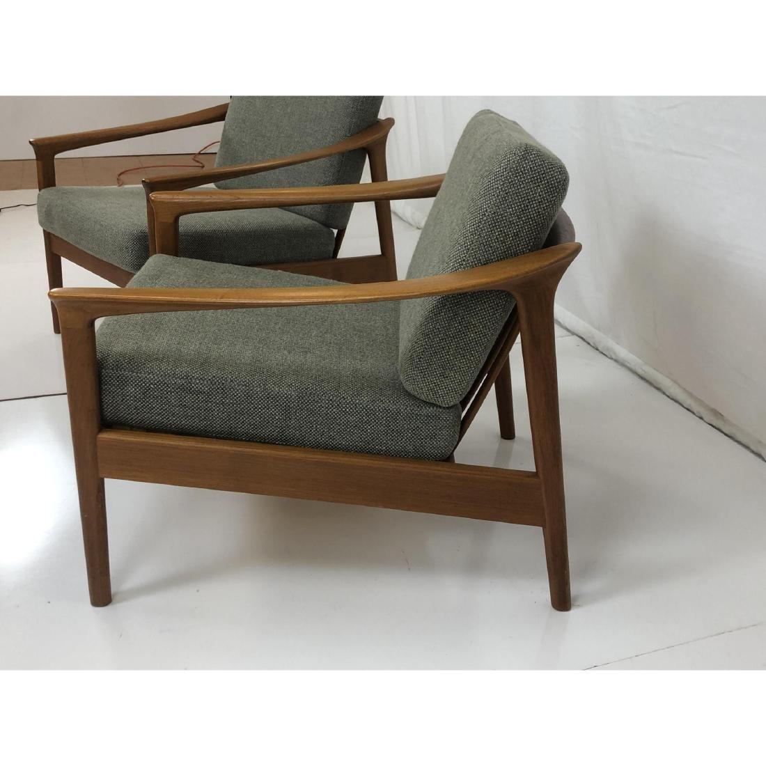 Pr FOLKE OHLSSON Danish Modern Teak Lounge Chairs - 5