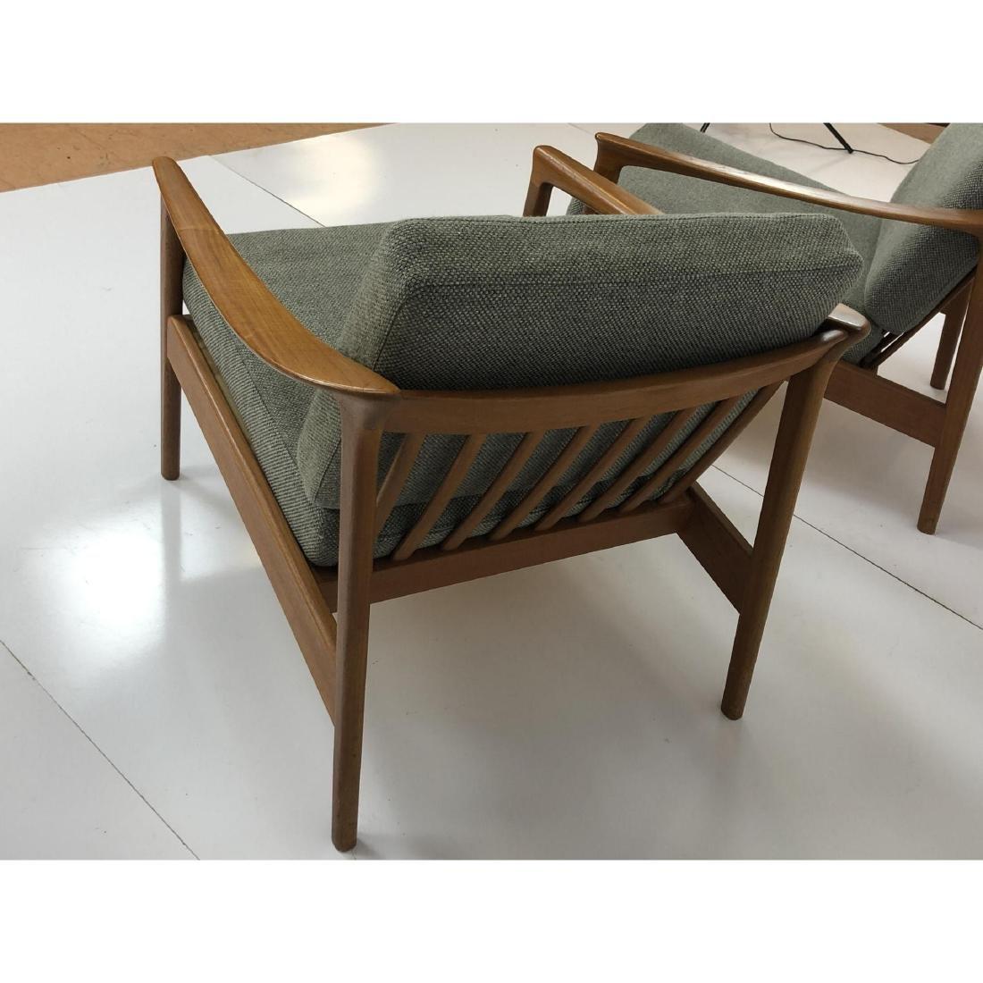 Pr FOLKE OHLSSON Danish Modern Teak Lounge Chairs - 6
