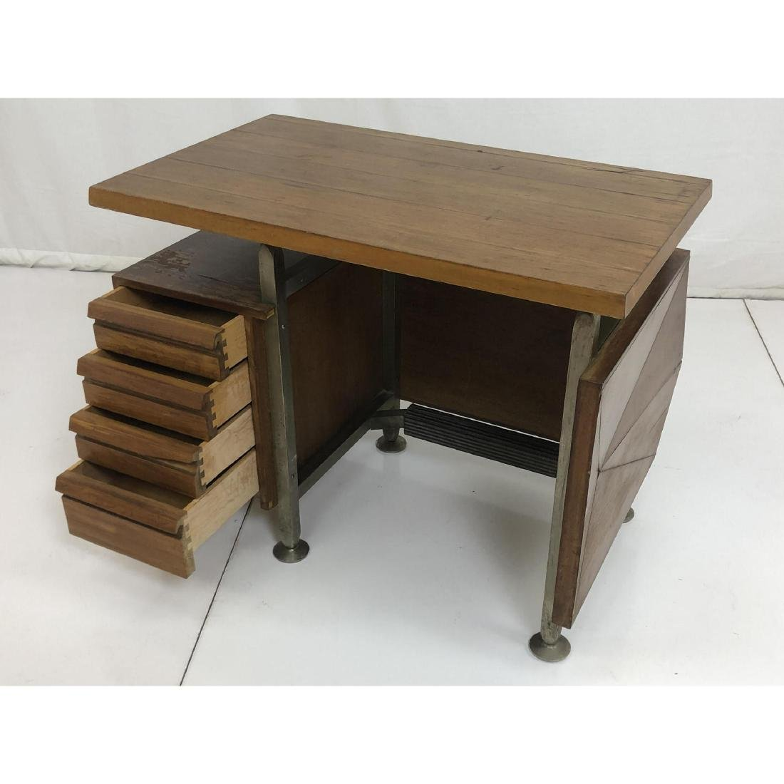 Gio Ponti style Modernist Writing Desk. Sculptura - 9
