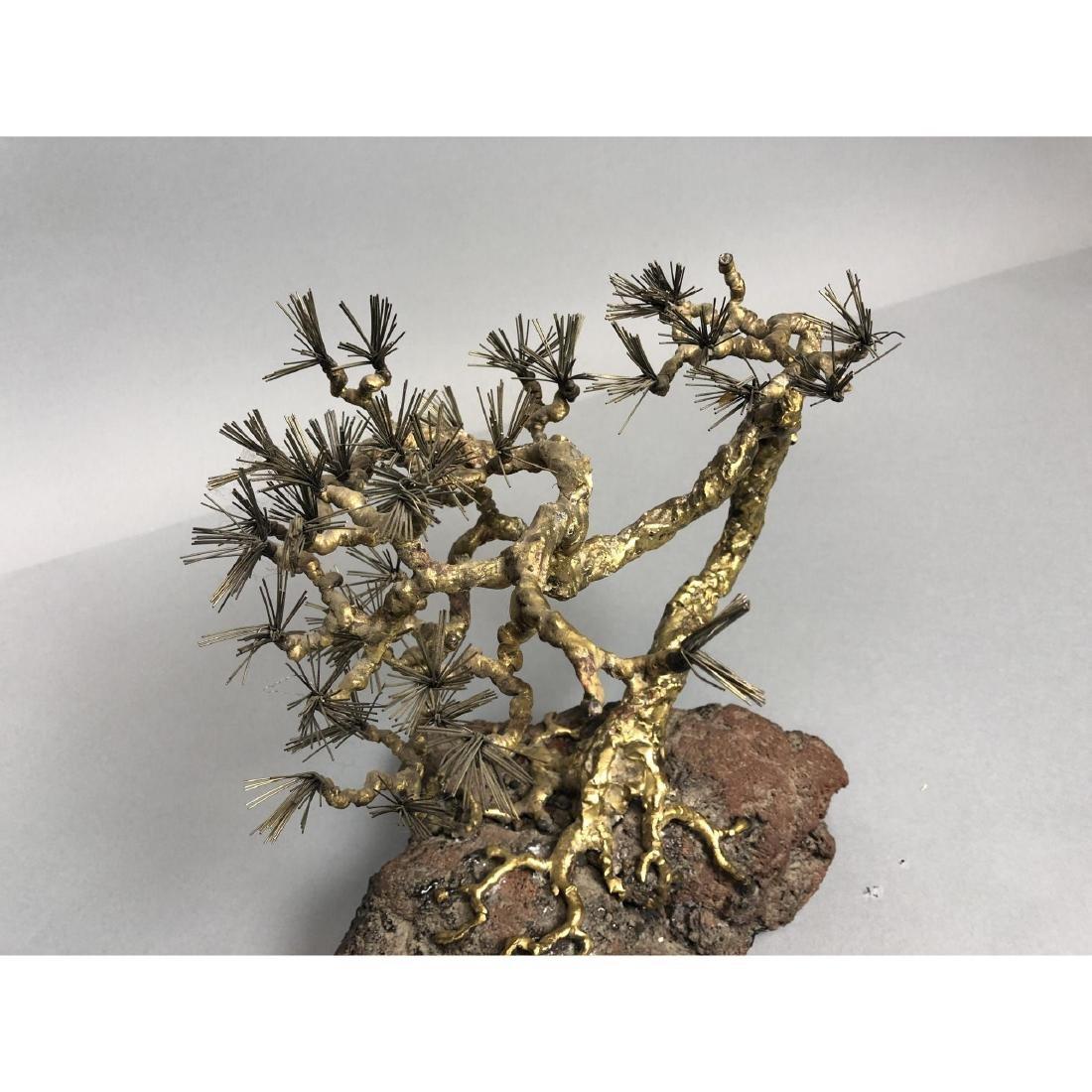 Brutalist Modern Brass Bonsai Tree Sculpture. Tor - 2