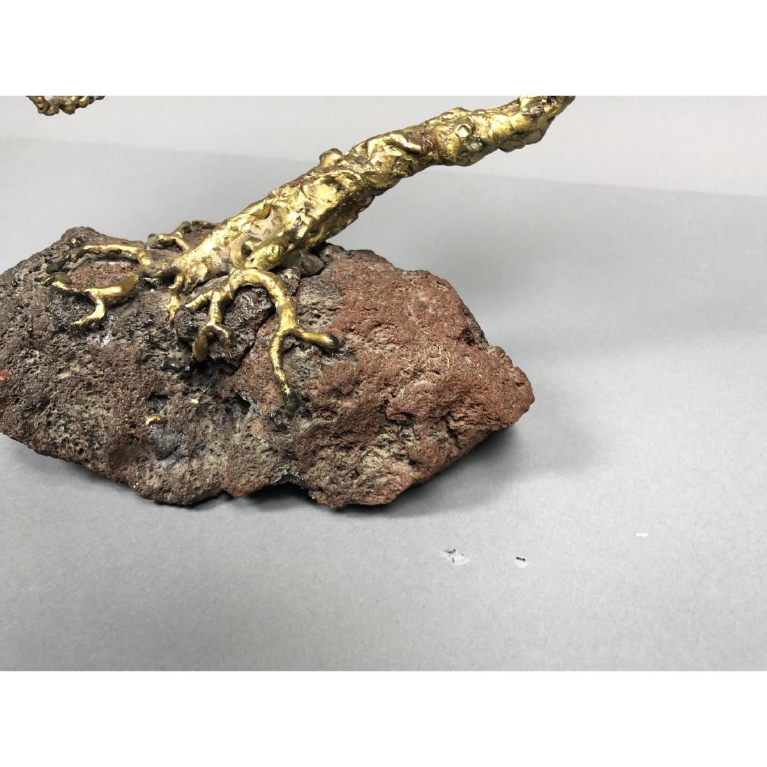 Brutalist Modern Brass Bonsai Tree Sculpture. Tor - 3