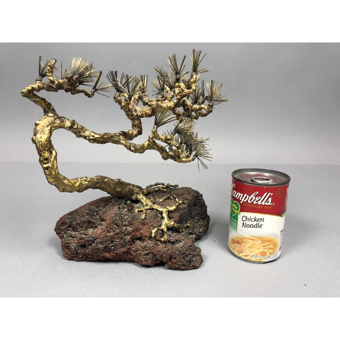Brutalist Modern Brass Bonsai Tree Sculpture. Tor - 4