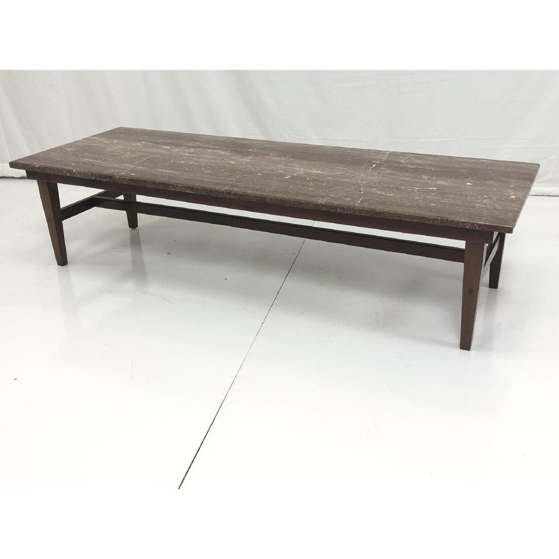 Red Vein Marble Top Cocktail Table. American Mode - 2