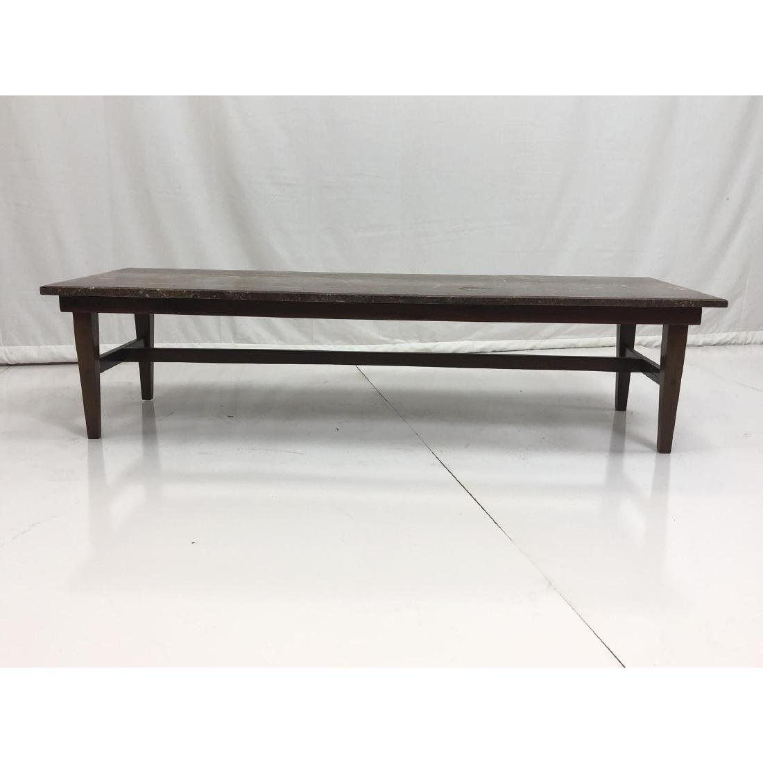 Red Vein Marble Top Cocktail Table. American Mode - 3