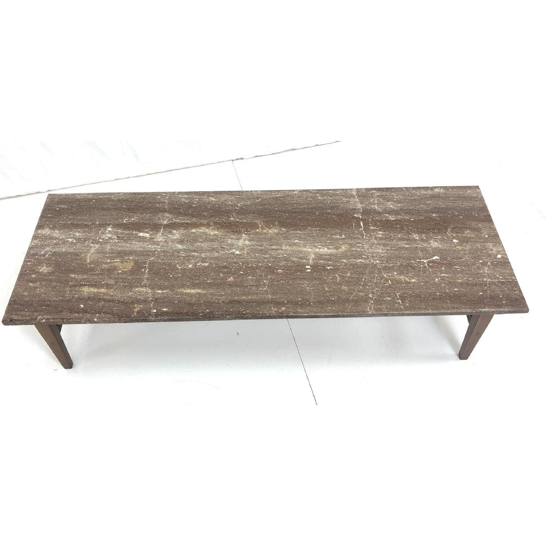 Red Vein Marble Top Cocktail Table. American Mode - 4
