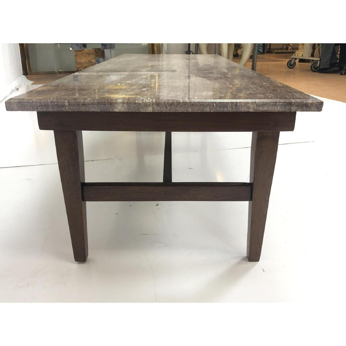 Red Vein Marble Top Cocktail Table. American Mode - 5