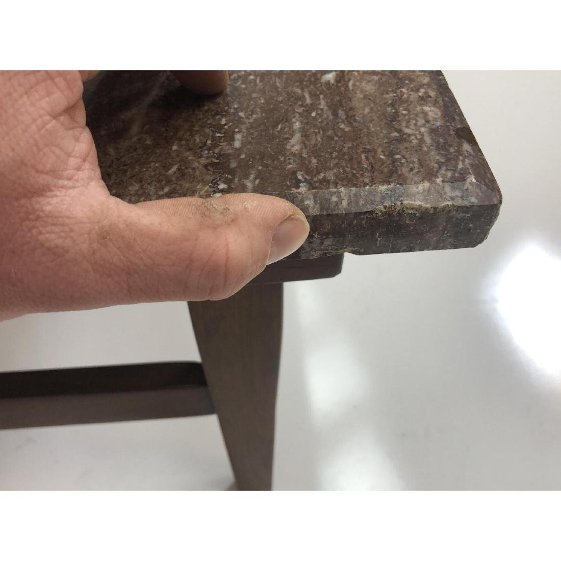 Red Vein Marble Top Cocktail Table. American Mode - 6