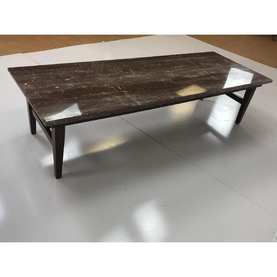 Red Vein Marble Top Cocktail Table. American Mode - 7