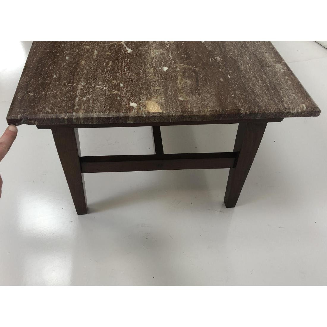 Red Vein Marble Top Cocktail Table. American Mode - 8