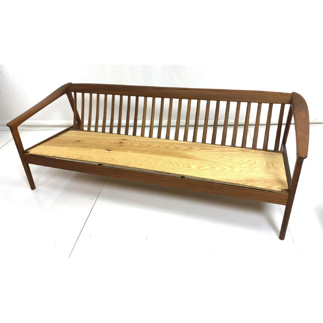 FOLKE OHLSSON Danish Modern Teak Sofa Couch . Ele - 2