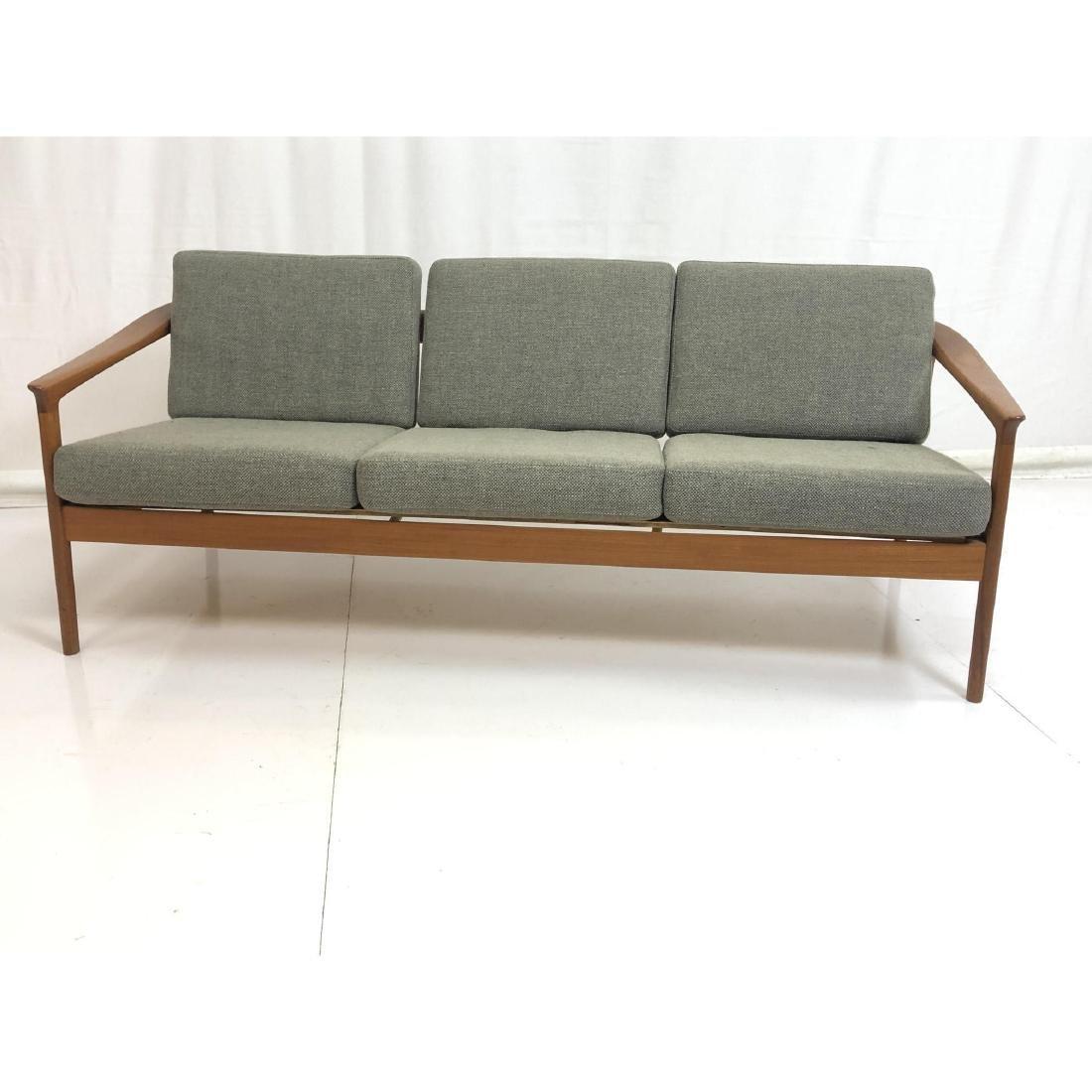 FOLKE OHLSSON Danish Modern Teak Sofa Couch . Ele - 3
