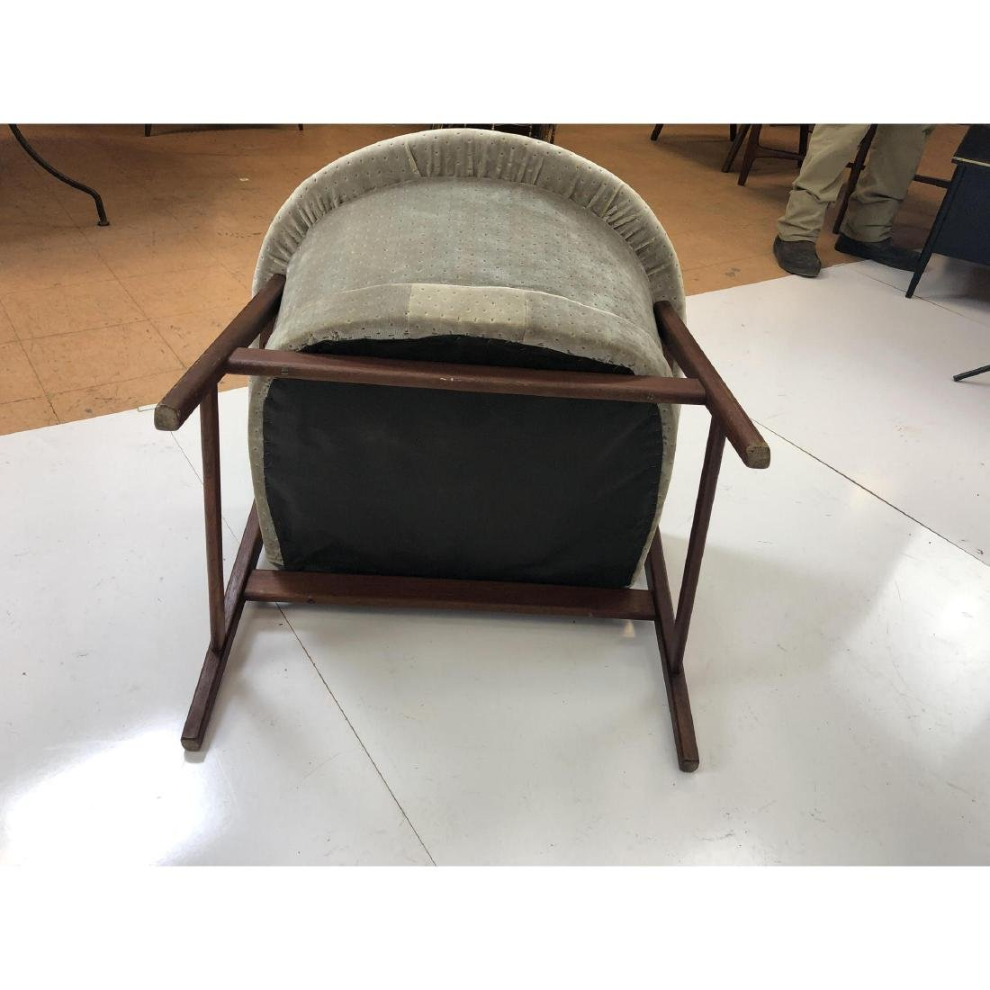 Danish Modern Teak Barrel Back Lounge Chair. Open - 8