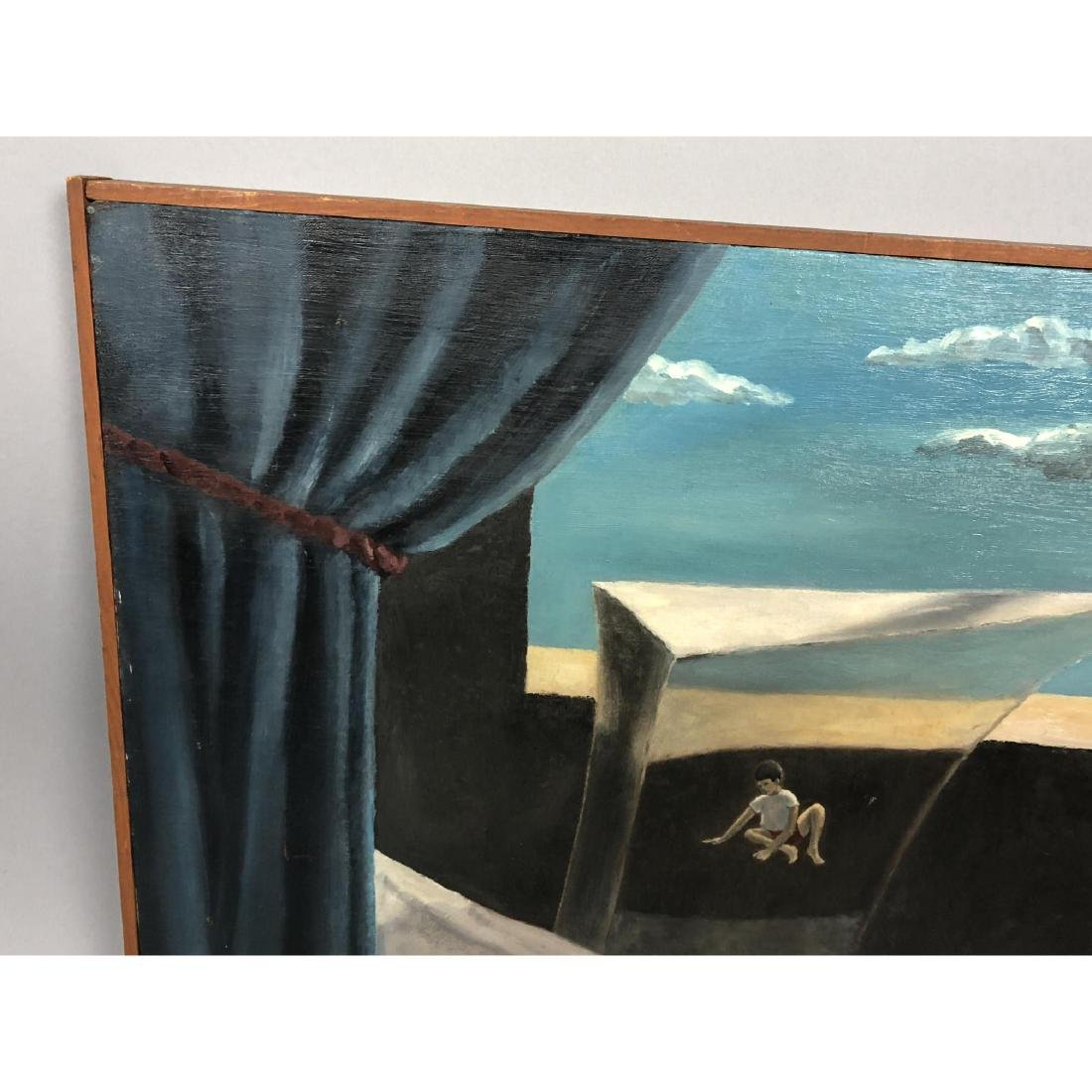 Unsigned Surrealist Modern Figural Oil Painting. - 5