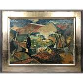 EISENSCHG Modernist Abstract Oil Painting. Abstra