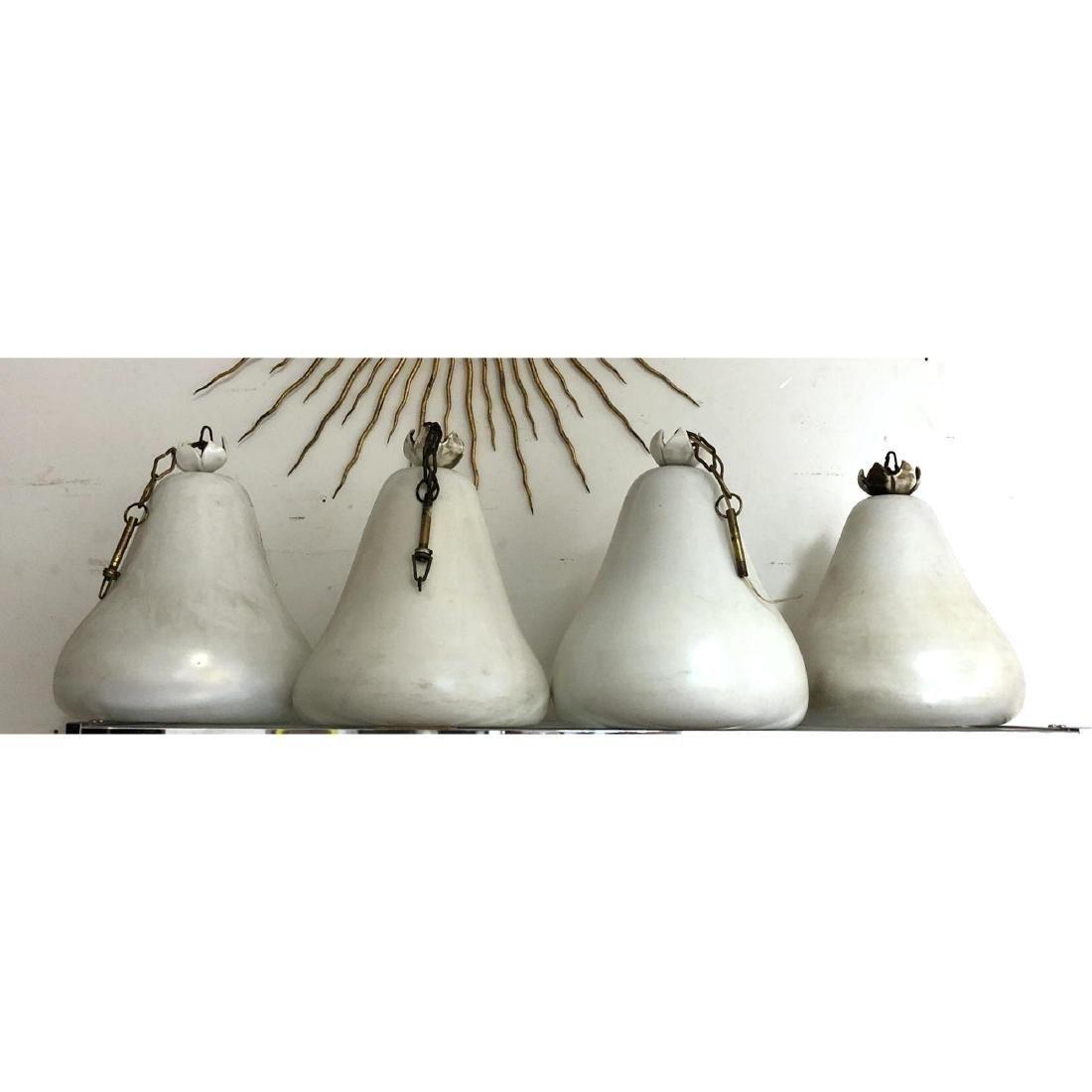 4pc Murano Art Glass Bell Chandeliers Hanging Lig - 2