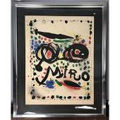 Pencil signed JEAN MIRO Lithograph Print. Moderni