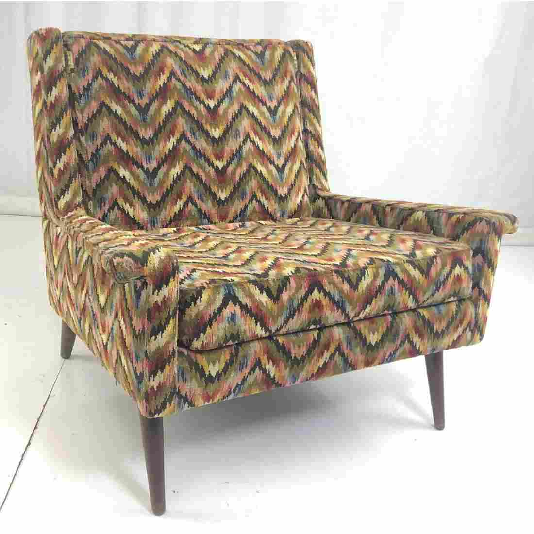 Modernist Paul McCobb style Lounge Chair. Flame s