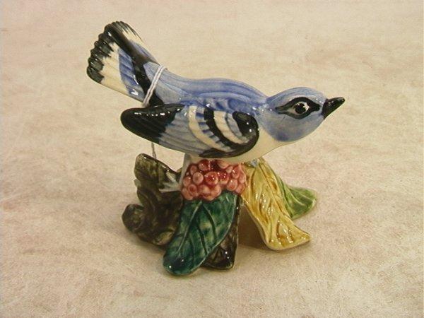 518: STANGL 3456 Cerulean Warbler Bird MW artist signed