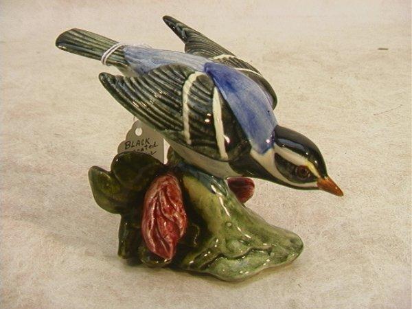 519: STANGL 3810 Black Throated Warbler Bird V artist s