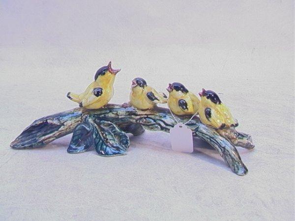 522: STANGL 3625 Gold Finch Bird Four Grouping Artist S