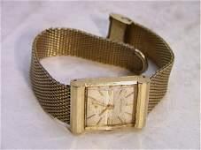 1331 WITTNAUER Art Deco Mans Watch 14K GOLD  Gold fil