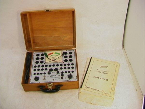 2018: CENTURY Tube Tester Fast Check with Manual. Oak C