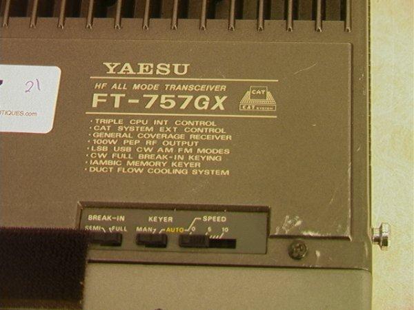 2021: YAESU FT-757GX Radio Mode transceiver Cat System. - 2