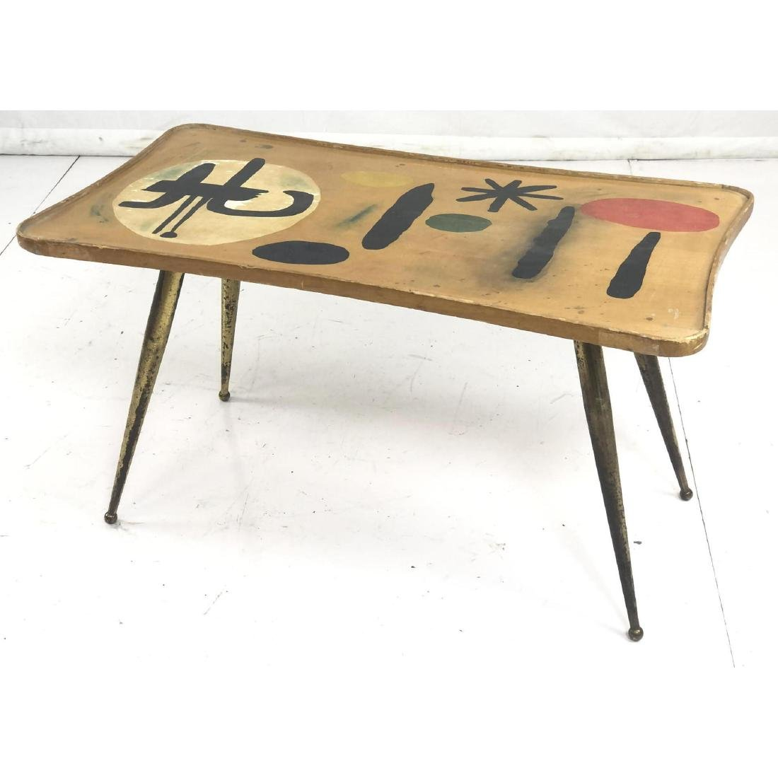 Modernist Maple Low Side End Table. Miro style pa