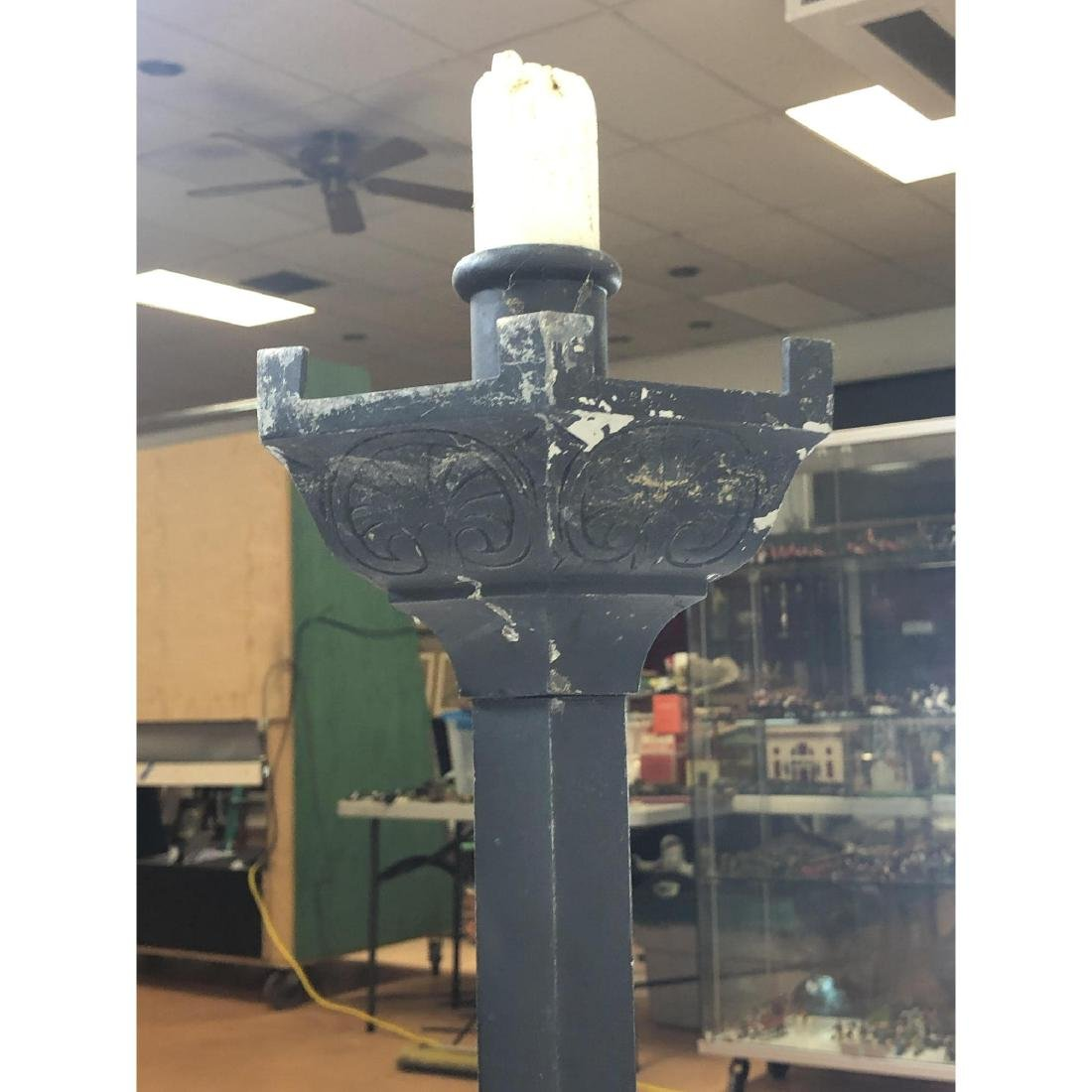Pr Metal Floor Candle Stands Sticks. Hexagonal ta - 9