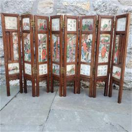 Small Chinese Marble Folding Screen. Table Top mo