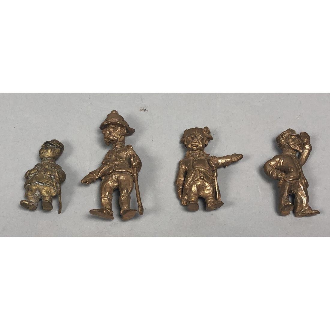 4pc STERLING LANIER Bronze Figures. Bronze milita