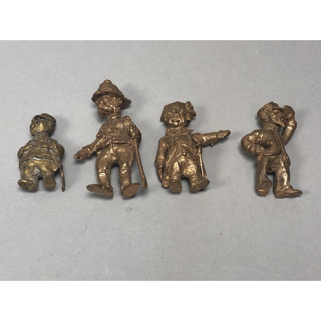 4pc STERLING LANIER Bronze Figures. Bronze milita - 2