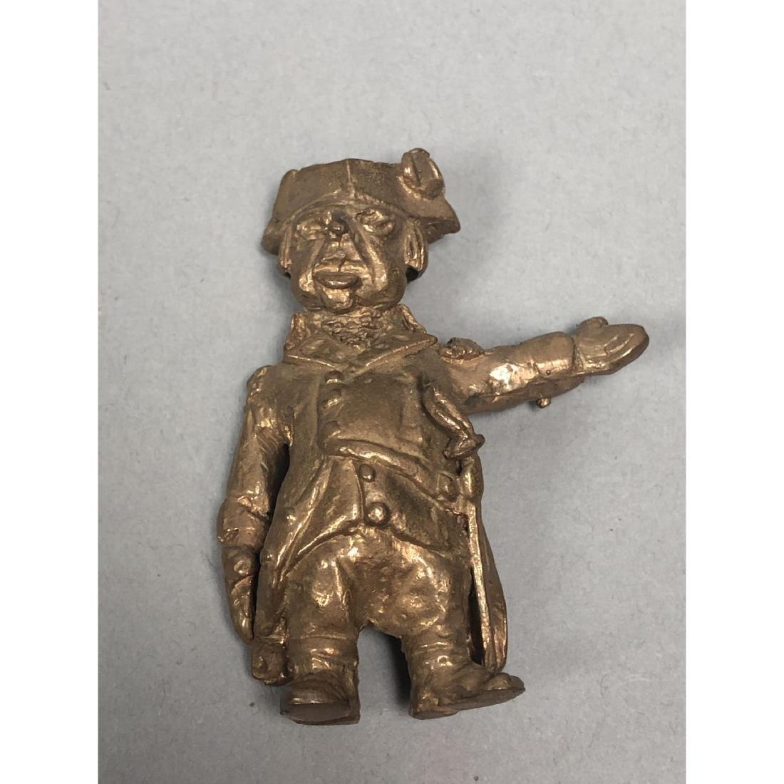 4pc STERLING LANIER Bronze Figures. Bronze milita - 7