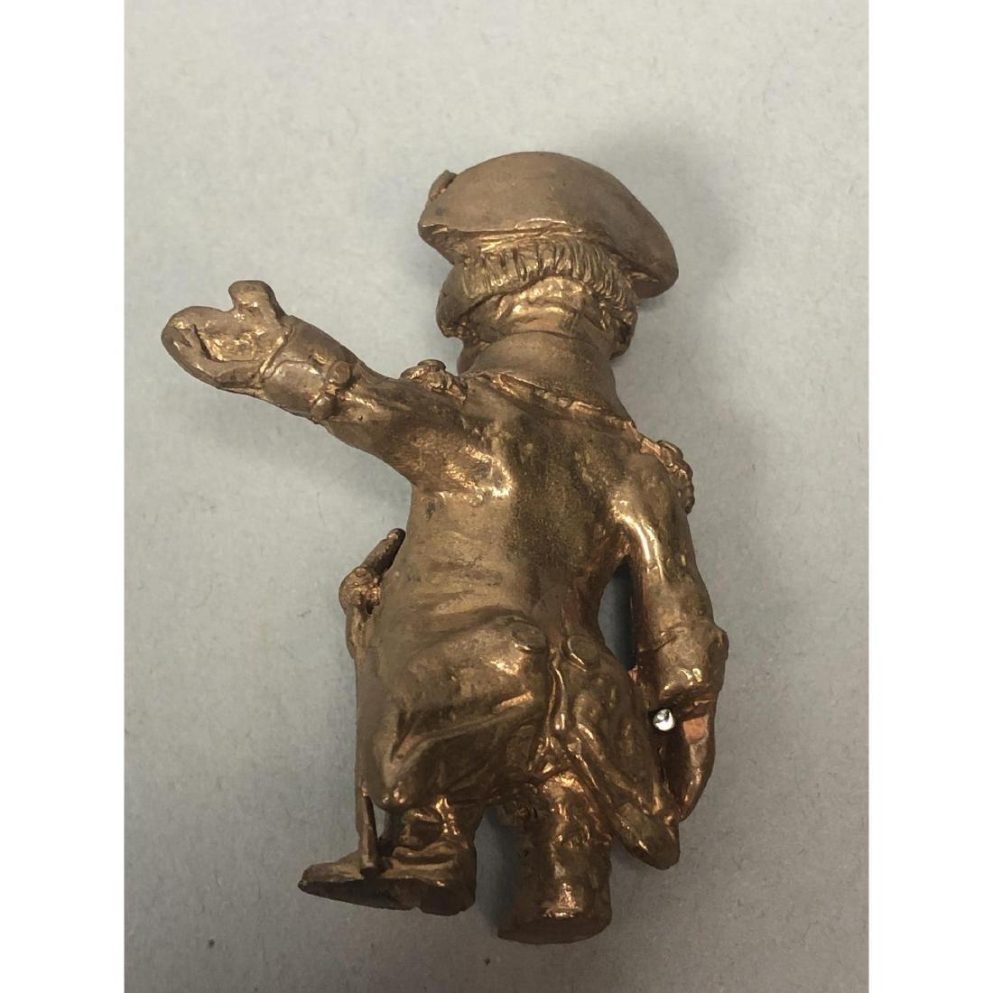 4pc STERLING LANIER Bronze Figures. Bronze milita - 8