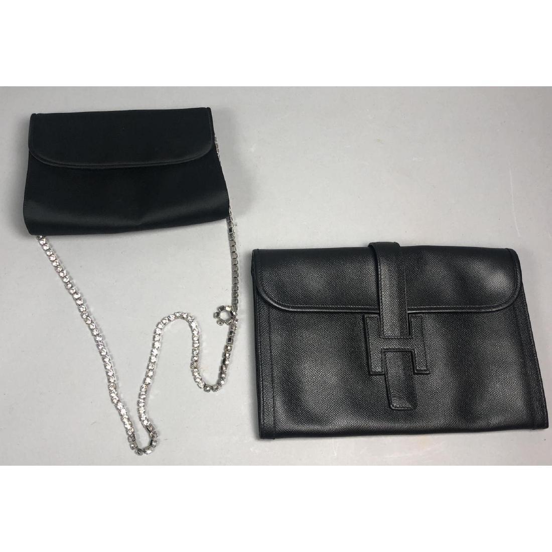 2pc Black Designer Handbag Purse Lot. GIVENCHY pe