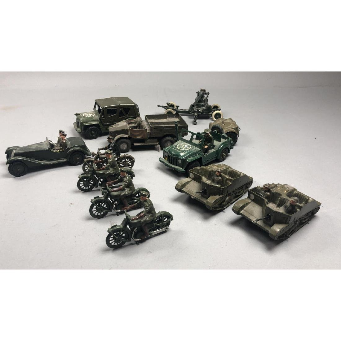 12pc BRITAINS Military Vehicles English Lead Toys