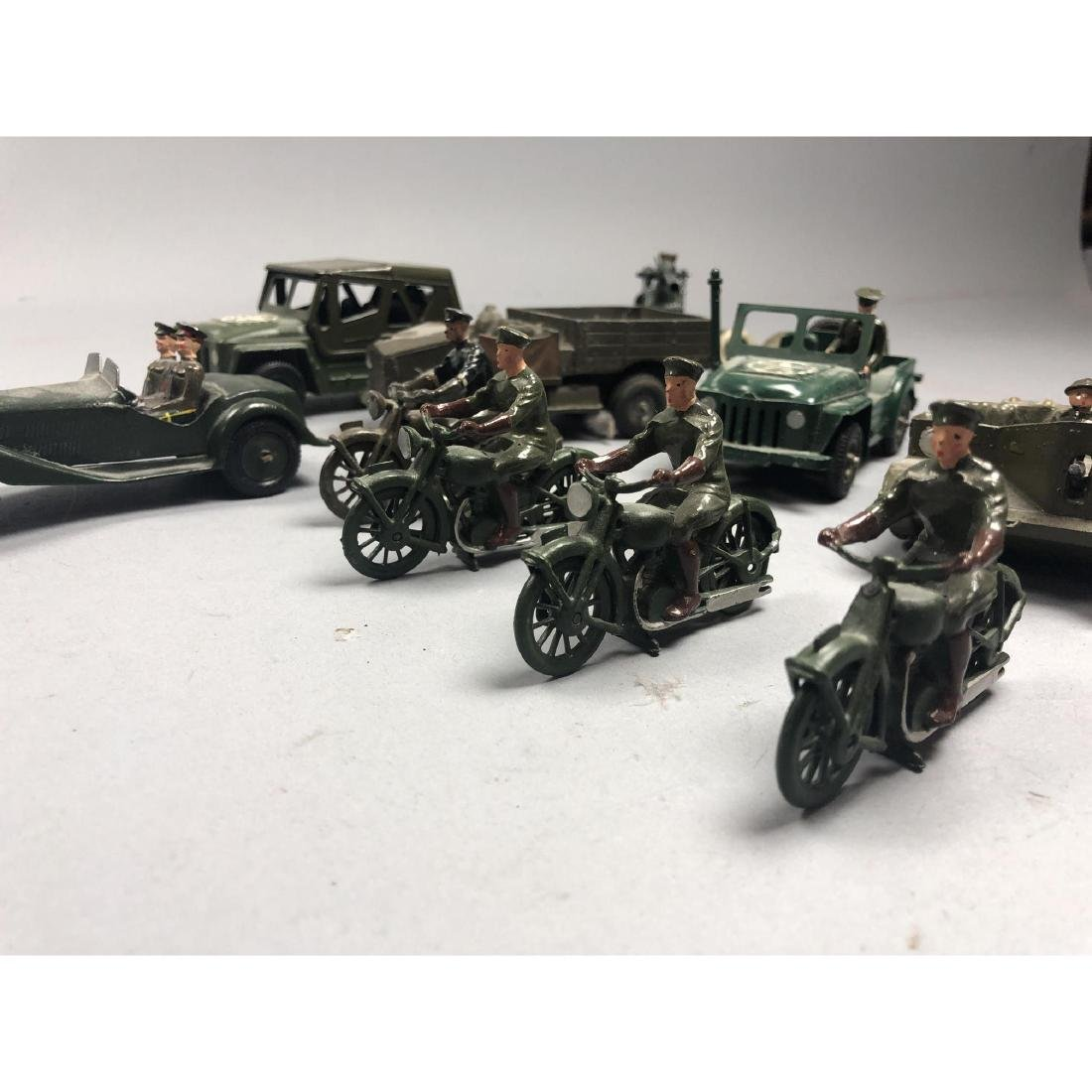 12pc BRITAINS Military Vehicles English Lead Toys - 2