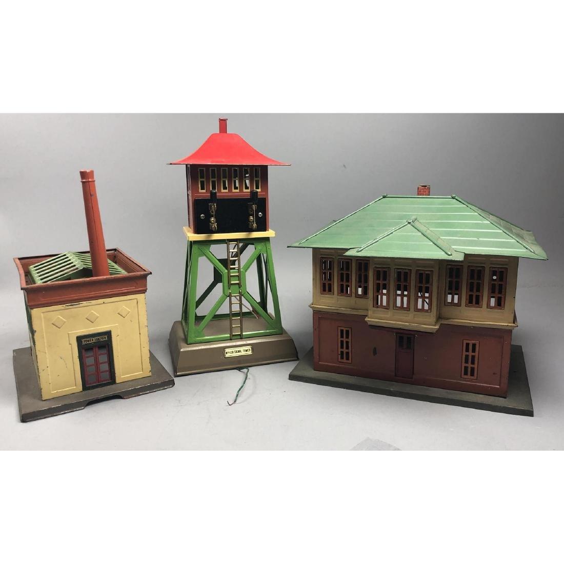 3pc LIONEL Model Train Buildings. 1 power station